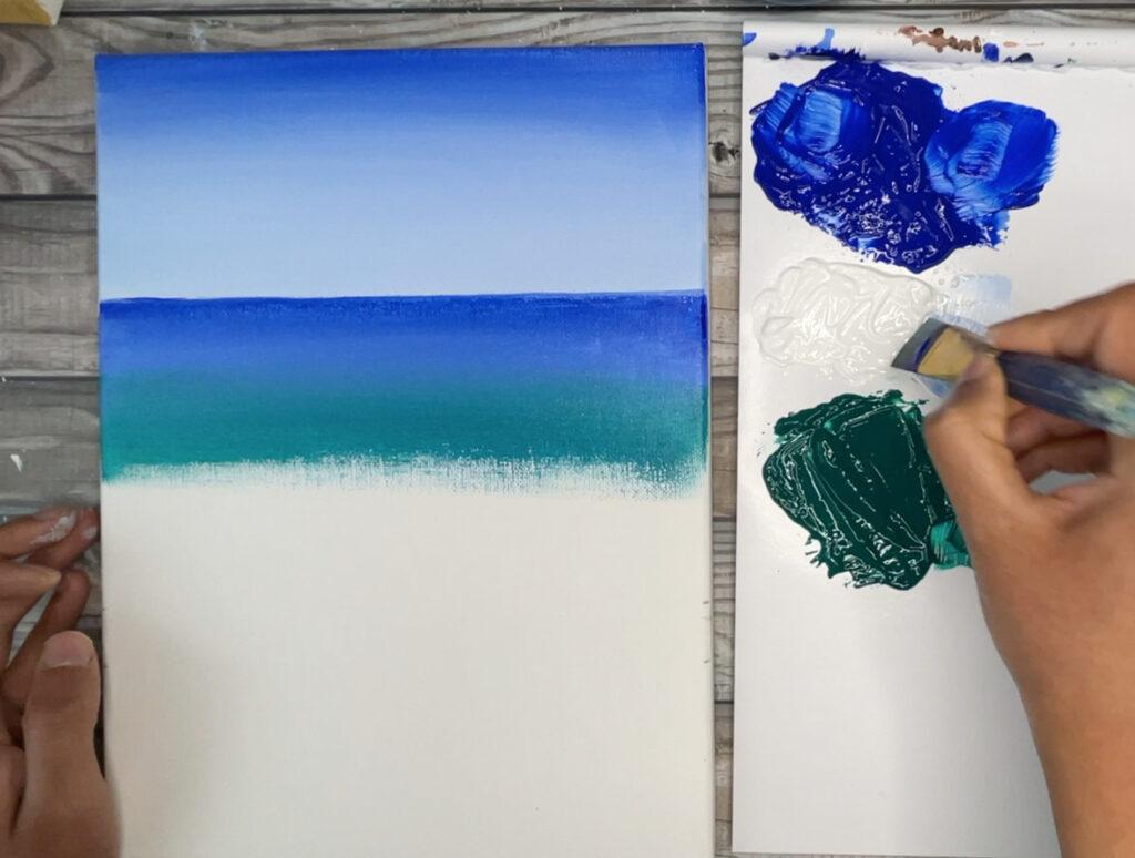 ocean blue green paint colors